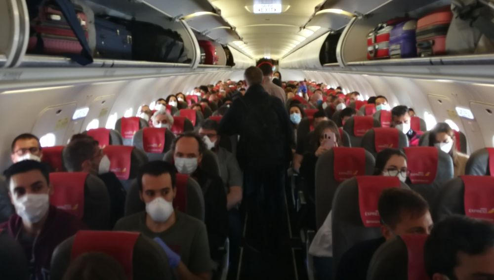 فوضى على متن رحلة جوية في اسبانيا