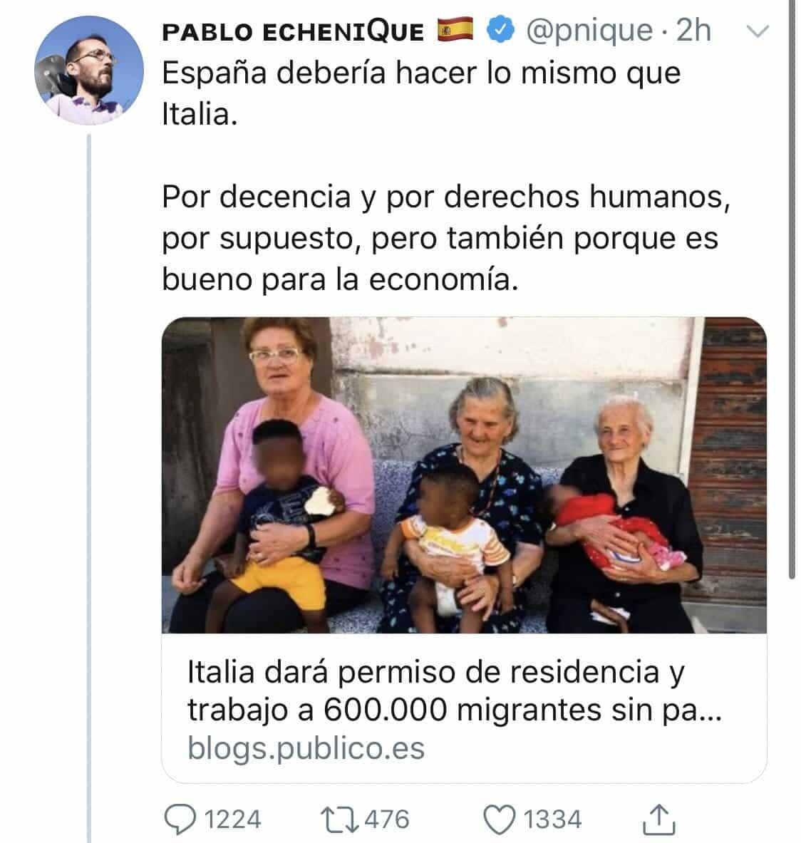 تسوية اوضاع المهاجرين في اسبانيا