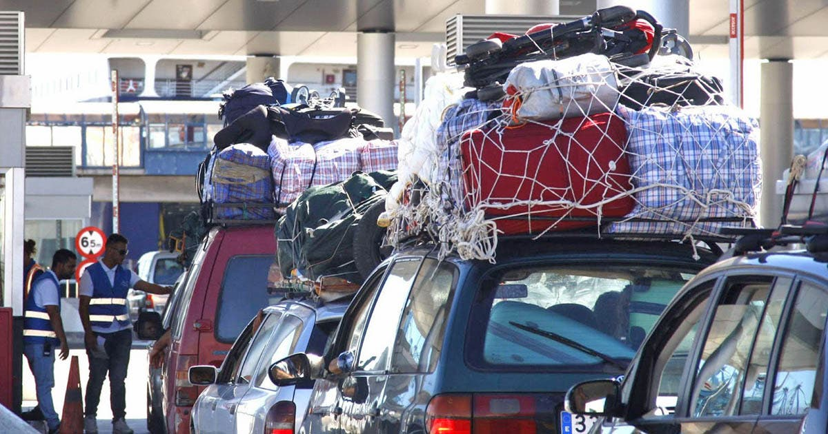 عملية عبور المهاجرين إسبانيا العبور المغتربين المغرب