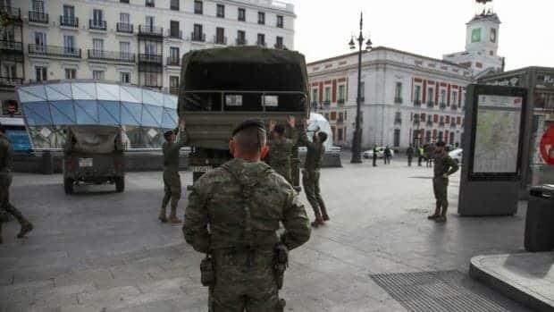 انتشار الجيش الاسباني