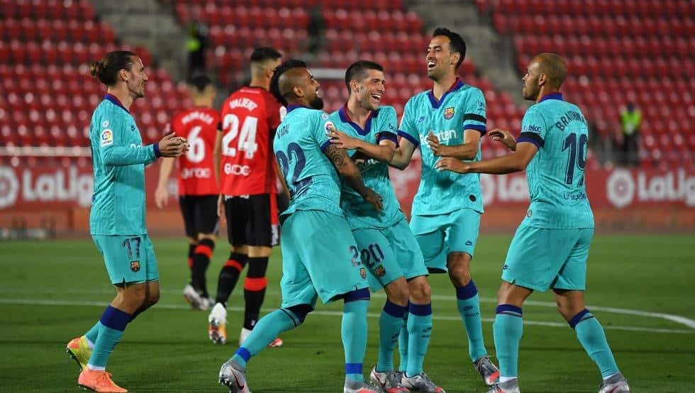 عودة مباريات الدوري الإسبانيا برشلونة مايوركا تسجيل أهداف هدف ميسي