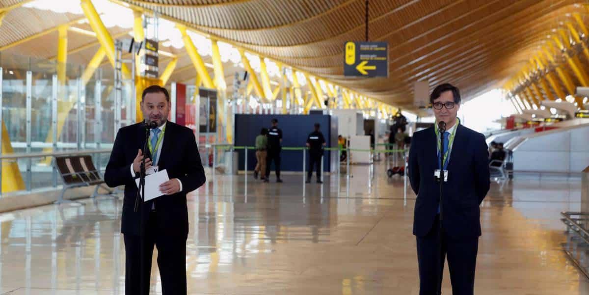 إسبانيا تستقبل المطارات 100 رحلة جوية رفع حالة الطوارئ