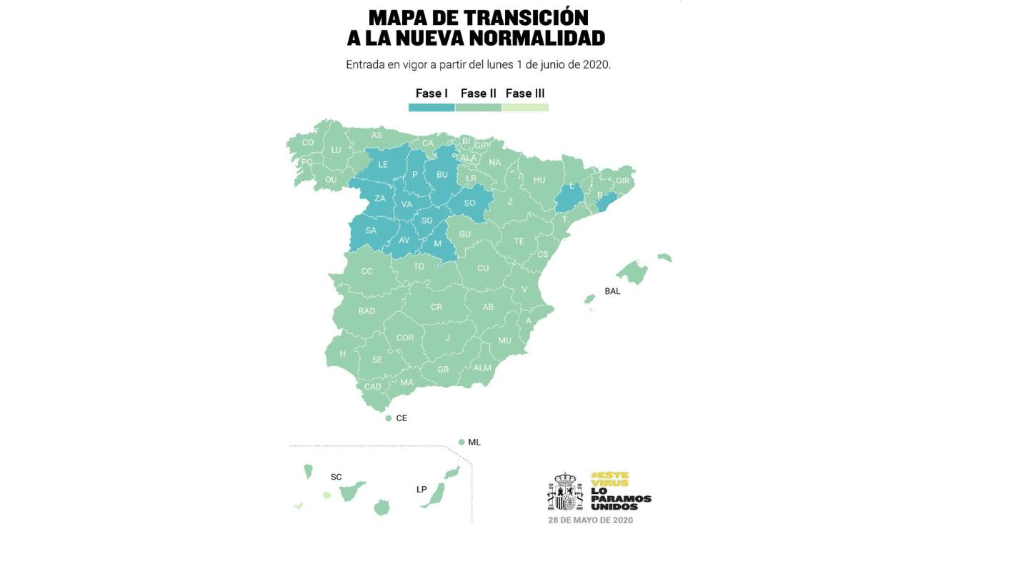 المرحلة الثانية المسوح به إسبانيا رفع القيود المراحل الخطة الحكومية