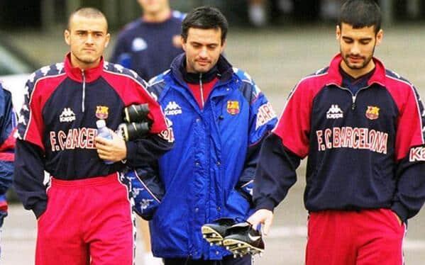 لويس انريكي بيب غوارديولا جوزيه مورينيو البارسا برشلونة مدرب المدرب اللاعب لاعب