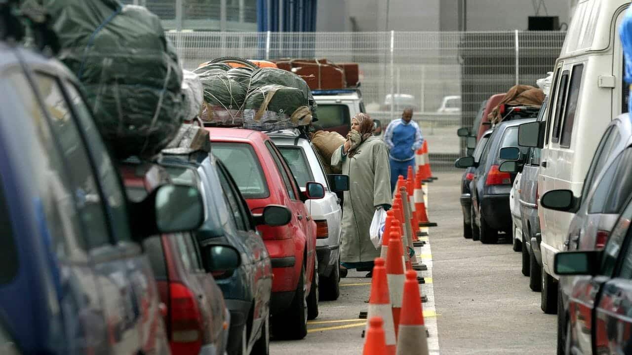 عبور المهاجرين المغتربين الأندلس إسبانيا السماح البلدان المغاربية