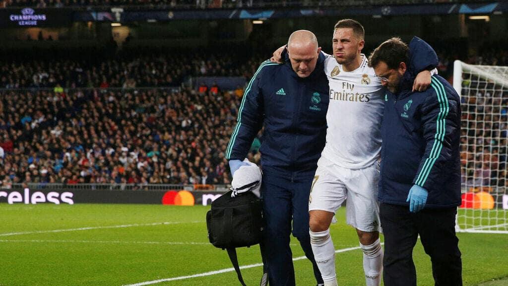 إدين هزارد اللاعب الليغا ريال مدريد إصابة الإصابة الإصابات كريستيانو رونالدو