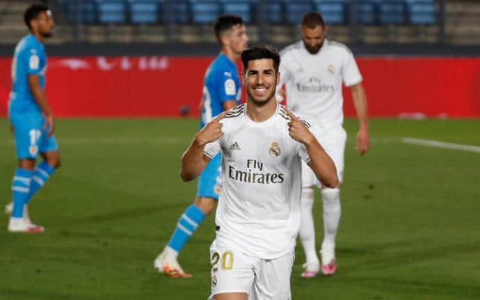 ريال مدريد فالنسيا الدوري الإسبانيا نقطة هدف
