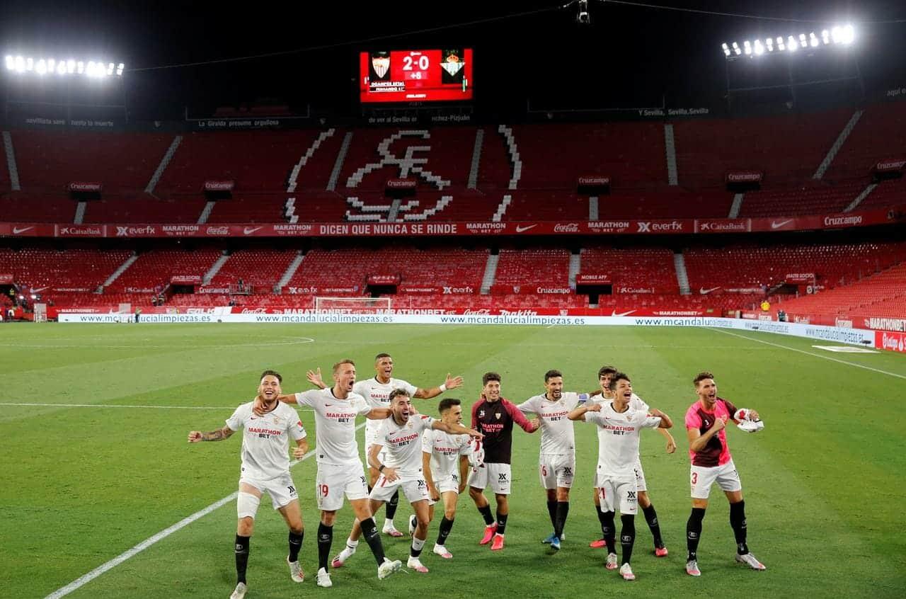 لا ليغا الدوري الإسباني لكرة القدم ريال مدريد برشلونة إشبيلية بيتيس