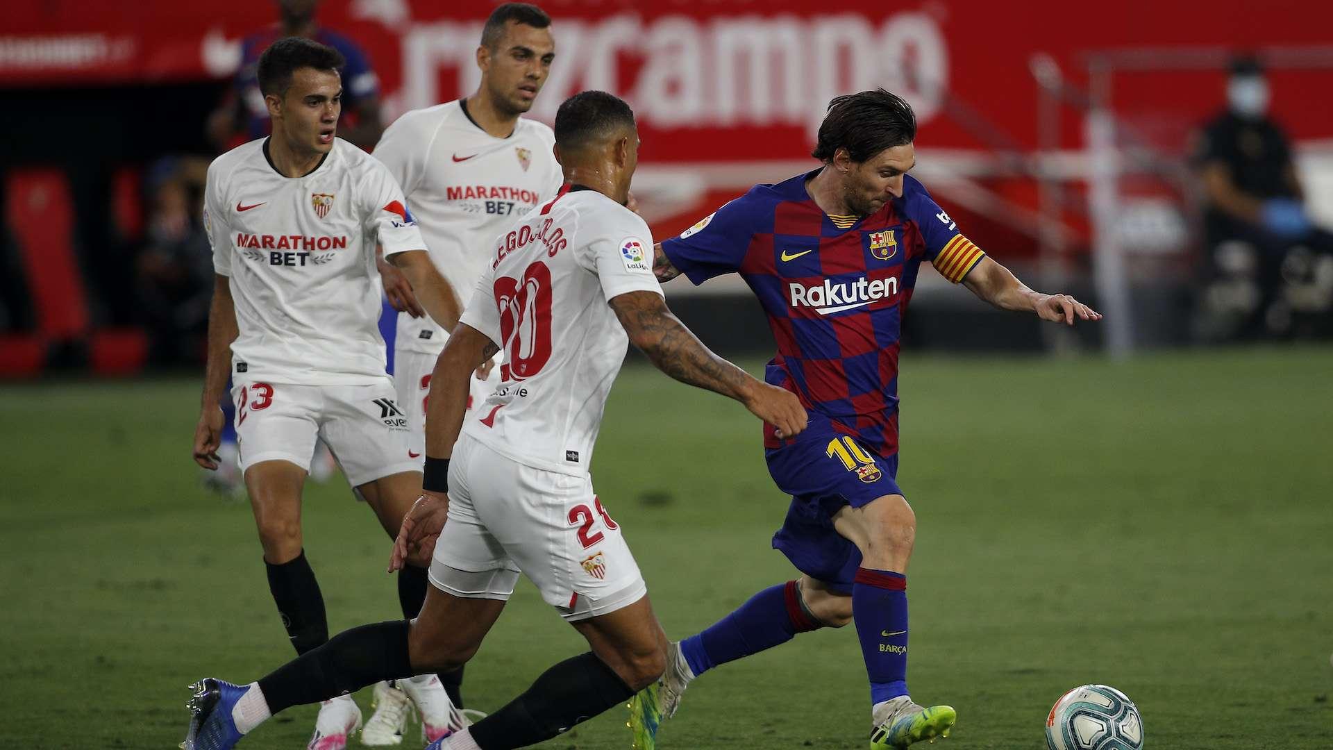 مباراة إشبيلية برشلونة الدوري الإسباني