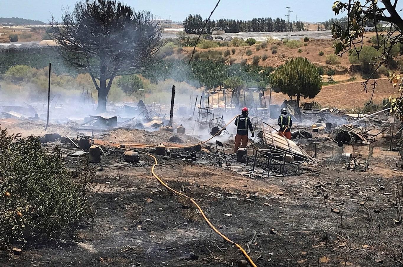 حرائق مخيمات المهاجرين إسبانيا