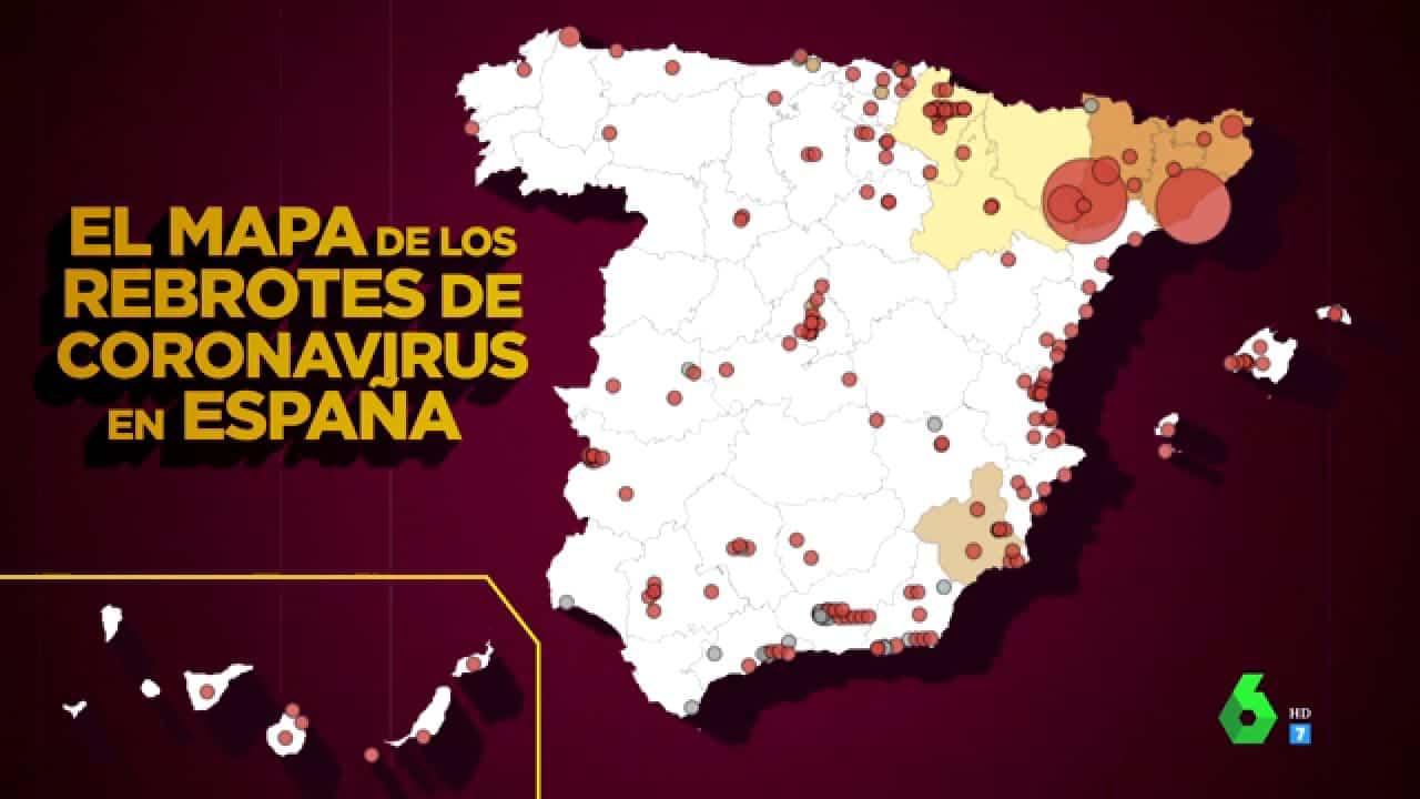 بؤر فيروس كورونا في إسبانيا
