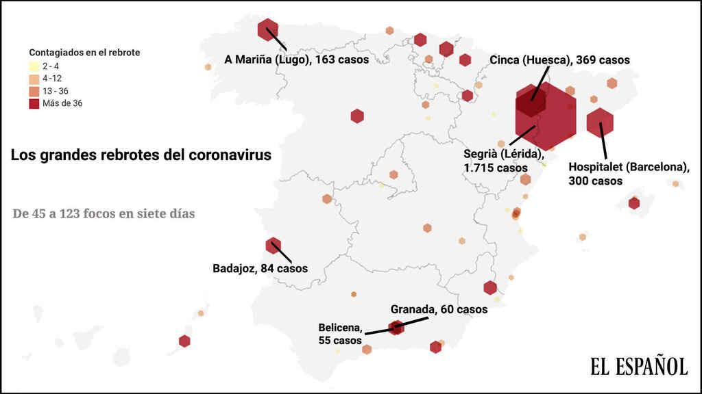 فيروس كورونا حالات إسبانيا