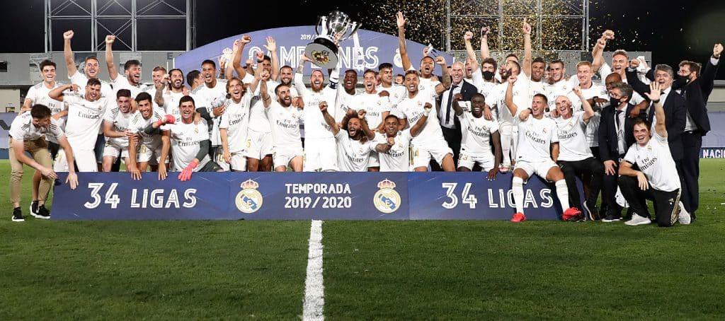 ريال مدريد يفوز باللقب الدوري
