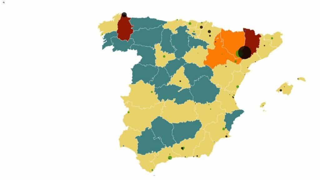 خريطة إسبانيا