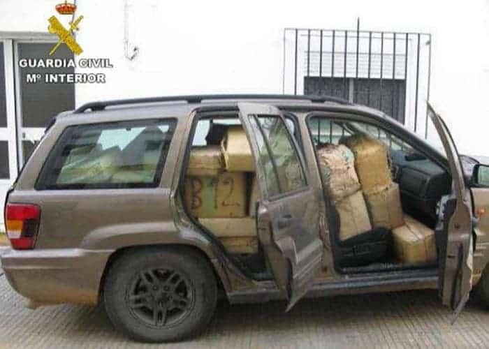 شحنة مخدرات الحرس المدني الإسباني