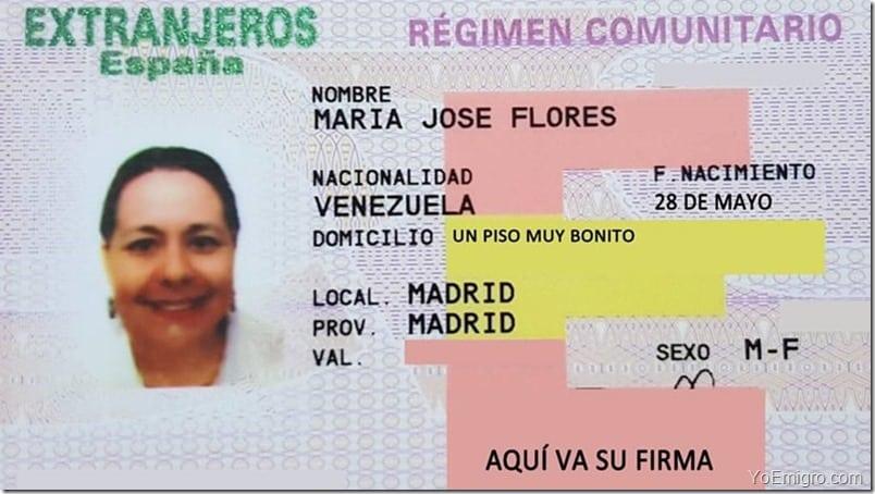 البطاقة الأوروبية إسبانيا