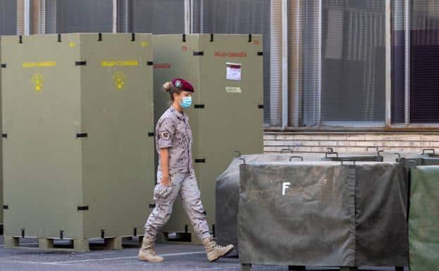 الجيش الإسباني يبنى مستشفى ميدانية