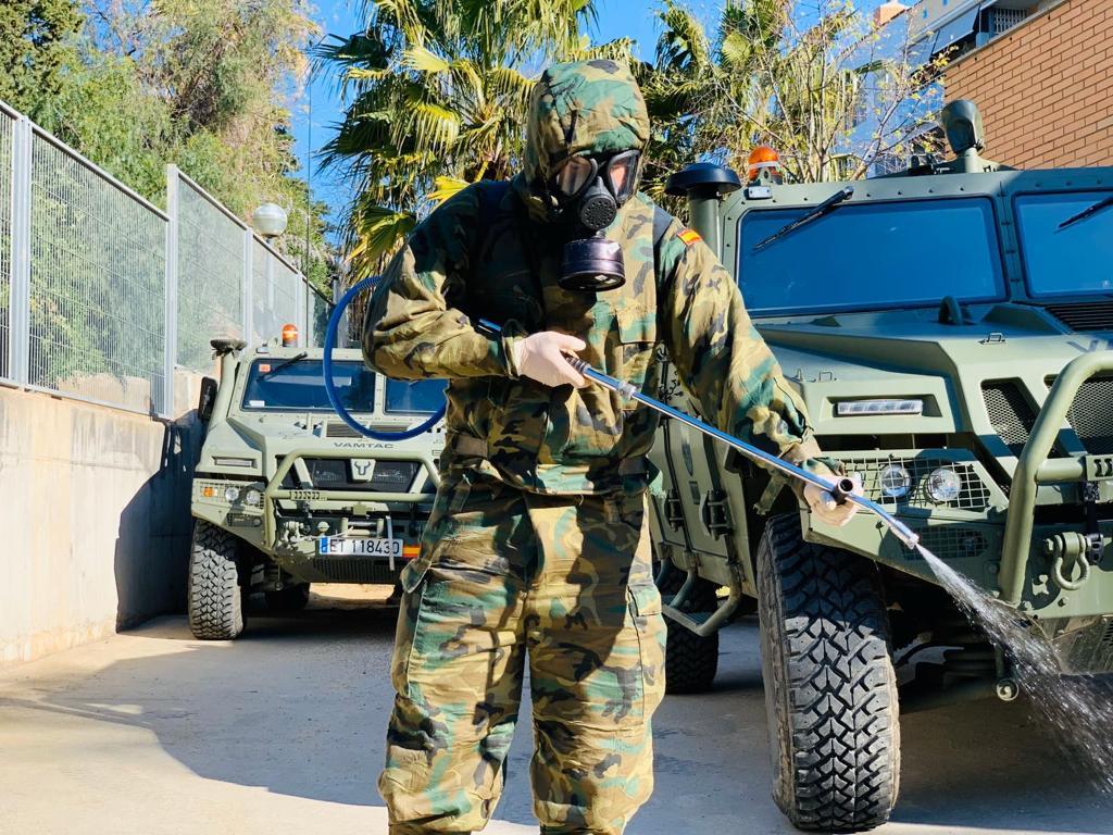 الجيش الإسباني فيروس كورونا