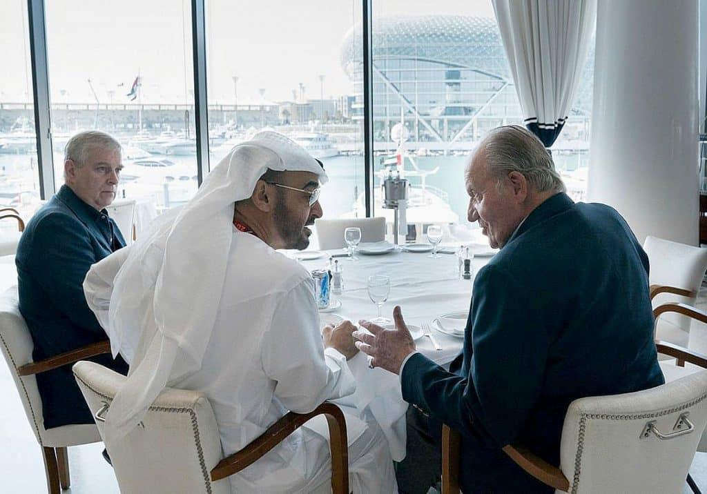 وجهة ملك إسبانيا السابق إلى أبو ظبي