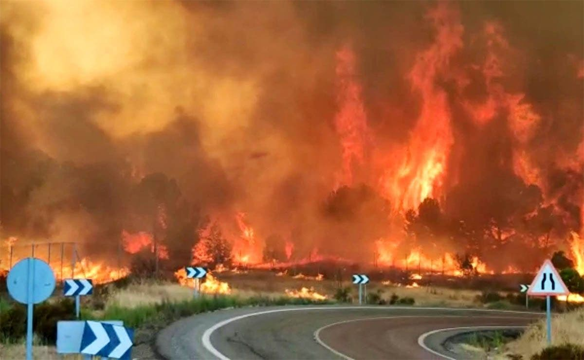 حرائق الغابات إسبانيا