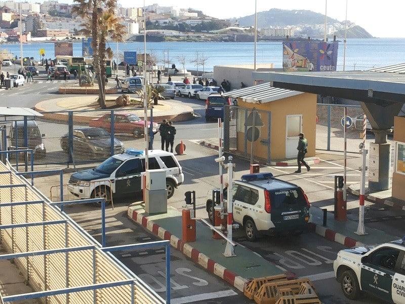 سبتة الحدود مع المغرب