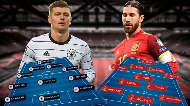 مبارات إسبانيا ألمانيا