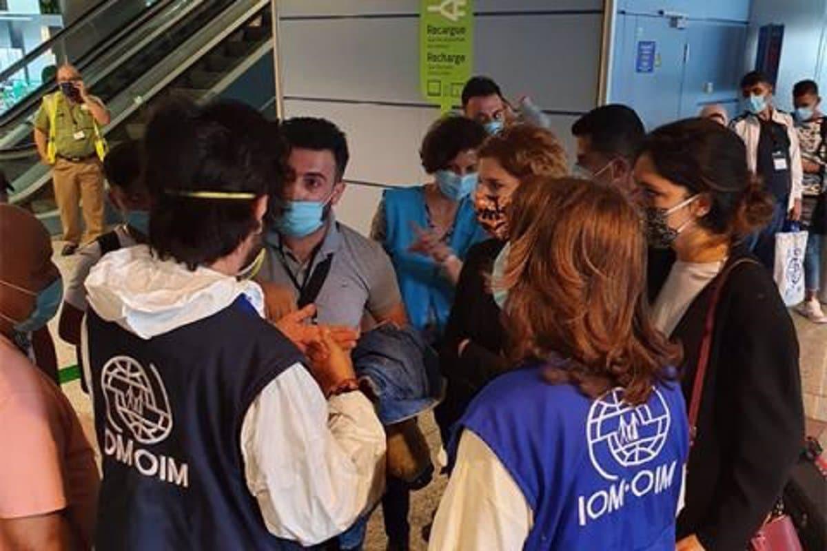 وصول لاجئين من لبنان