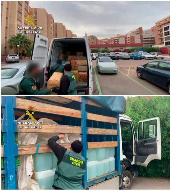 تهريب المخدرات إسبانيا