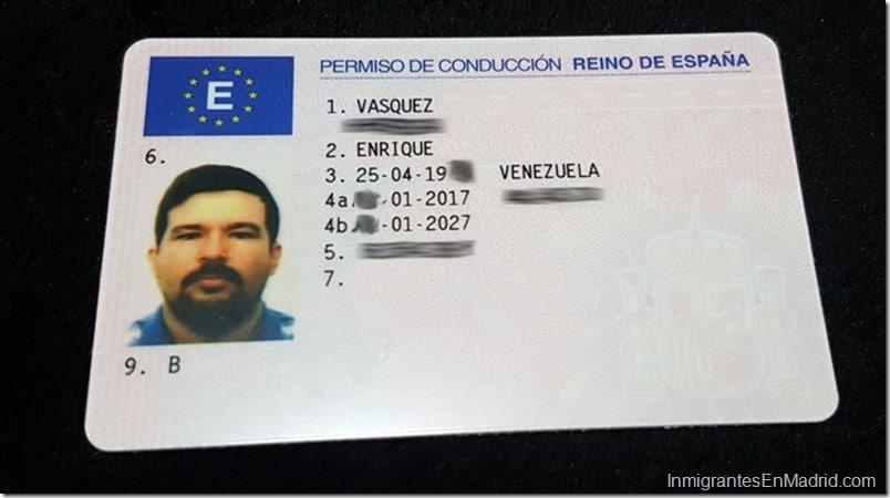 رخص السياقة الإسبانية
